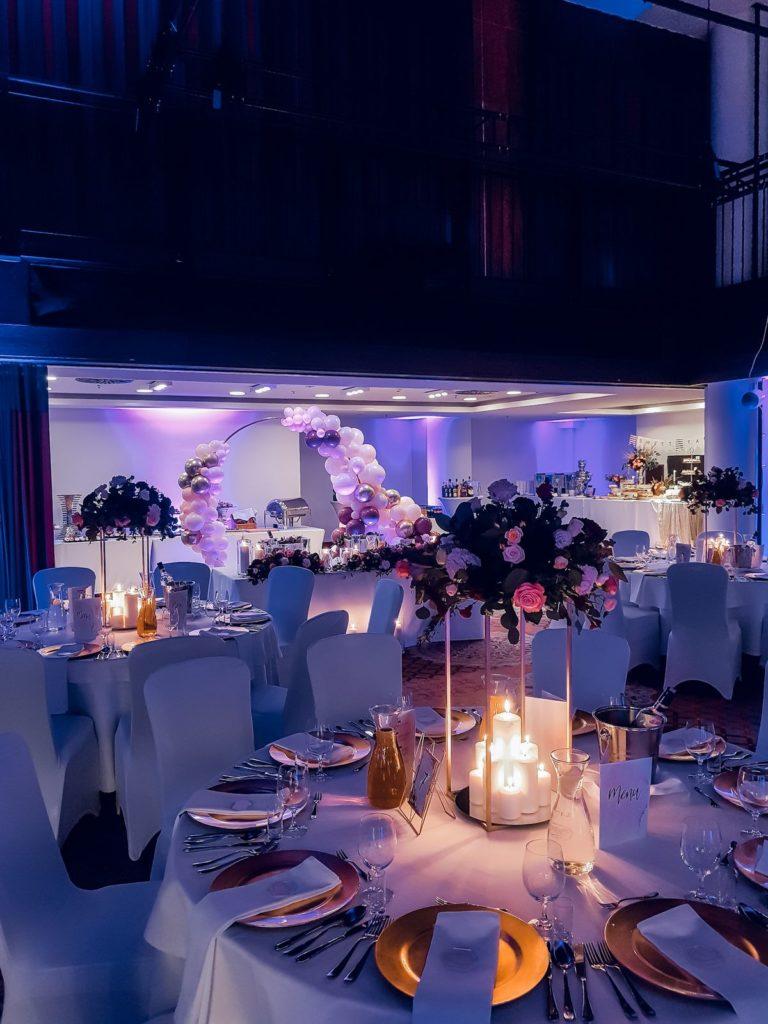 Dekoracja sali na weselu w Hotelu Bristol w Rzeszowie