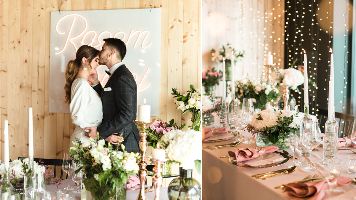Róż, złoto i dużo miłości. Sesja stylizowana Mizzle Weddings
